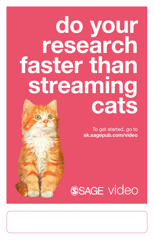 SAGE Video poster_cats