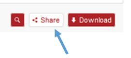 Image of the 'share' button available on the widget powered by figshare