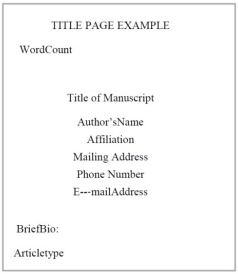 About Campus Title Page Example