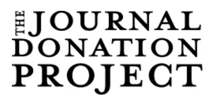 The Journal Donation Project