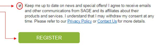 """To receive email notifications, check the """"Keep me up to date on news and special offers…"""" section"""