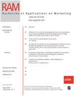 Recherche et Applications en Marketing