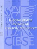 Building Services Engineering Research and Technology