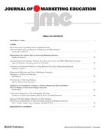 SAGE: Journal of Marketing Education0273-4753, 1552-6550