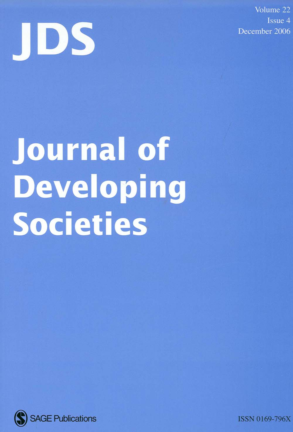 Journal of Developing Societies