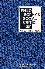 Philosophy & Social Criticism