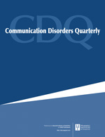 Communication Disorders Quarterly