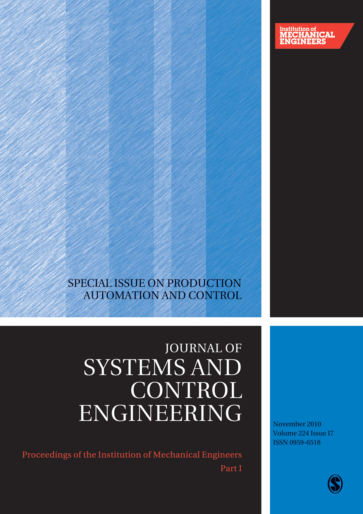 Proceedings of the Institution of Mechanical Engineers, Part I: Journal of Systems and Control Engineering