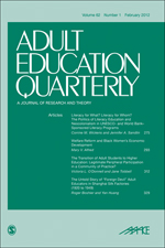 Adult Education Quarterly. A Journal of Research and Theory
