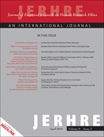 Journal of Empirical Research on Human Research Ethics